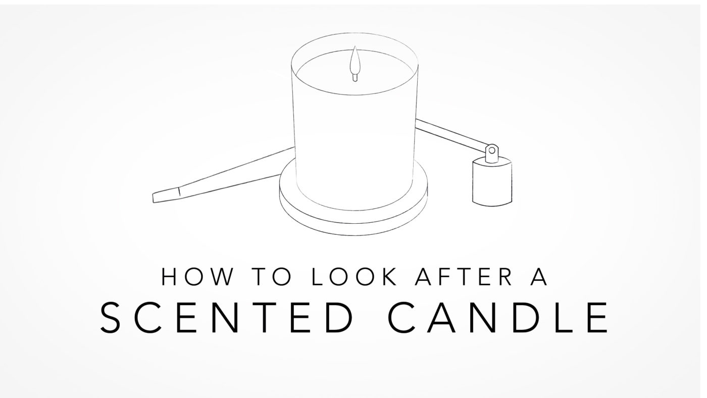 How to look after a scented candle blog poster image care wick dipper snuffer