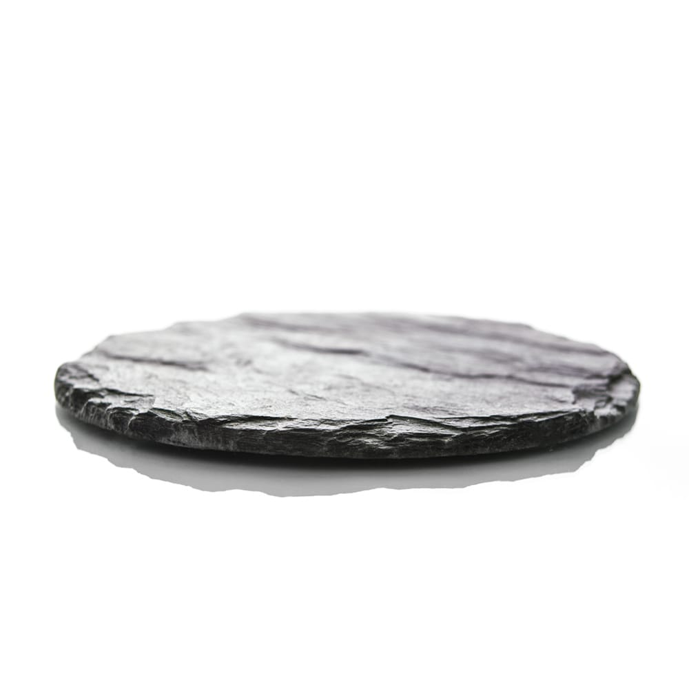 slate candle coaster hand made with welsh slate