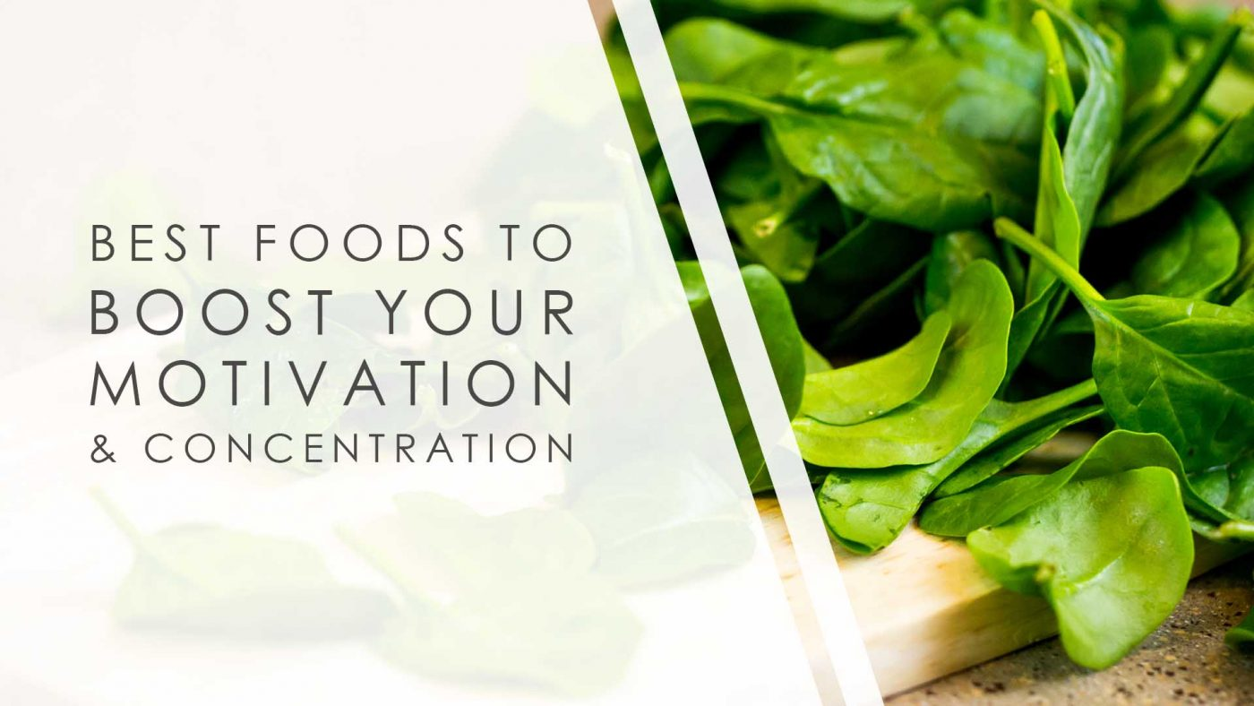 best foods to boost your motivation and concentration blog poster